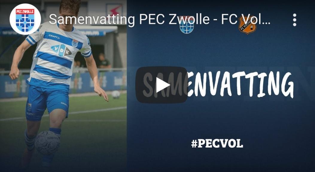Samenvatting PEC Zwolle - FC Volendam