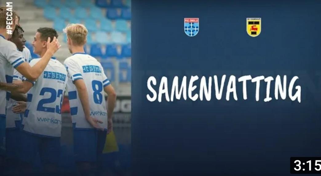 Samenvatting oefenwedstrijd PEC Zwolle - SC Cambuur